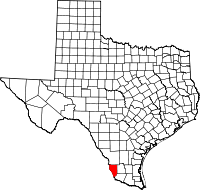 Small map of Zapata county