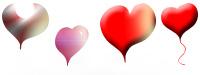 Hearts - custom shapes hand drawn layer style sample