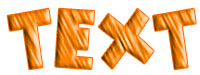 Orange Strip layer style sample
