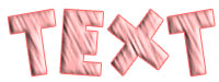 Pink Strip layer style sample