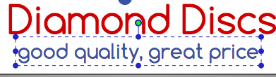 Text font ready for edit