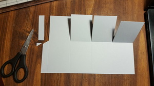 Step 7 small strip and diagonal cut