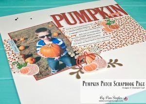 Pumpkin patch scrapbook page