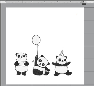 Party_panda_image_in_silhouette