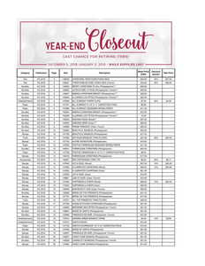 Year end closeout us 1