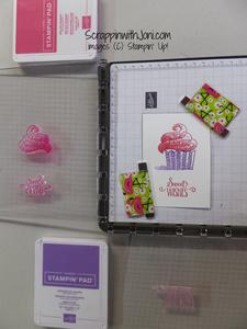 Cupcake stamp set up