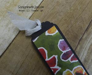 Ribbon bookmark through the loop