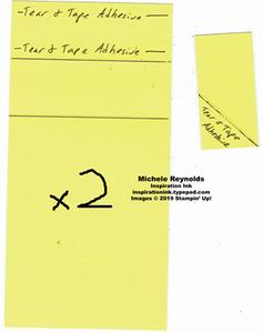 Wiper card adhesive and score areas watermark