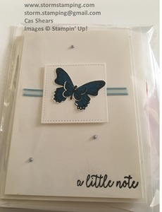Butterfly gala ad card