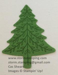 Hanging christmas tree step 1