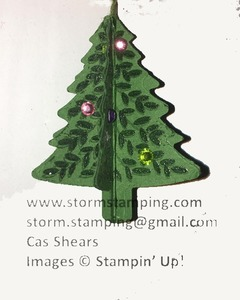 Hanging christmas tree