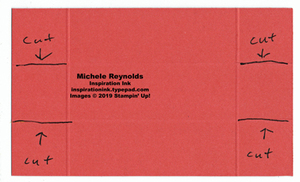 Open top box cut lines watermark