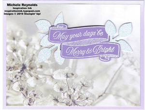 Toile christmas frosted wishes purple watermark