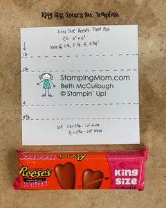 King size reese's box template