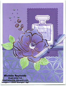 Dressed to impress floral perfume easel watermark