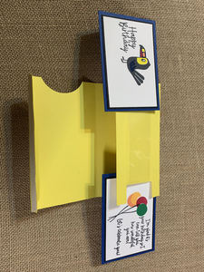 Extended double fold card pre assembly