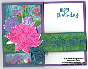 Lovely lily pad box fold card watermark