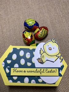 Easter chick cupcake basket option 2