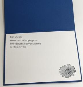Vellum blend daisy card in
