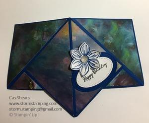 Floral essence teepee card flat