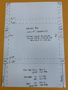 Notecard box directions