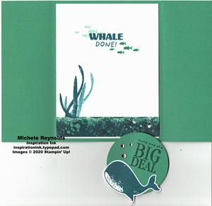 Whale done fun fold inside watermark