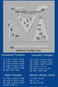 Stitched triangles sizes