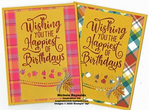 Happiest of birthdays plaid leaf birthday set 3 watermark