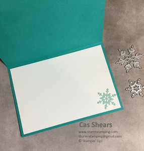 Snowflake friendship card in