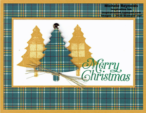 Perfectly plaid plaid trees yellow watermark