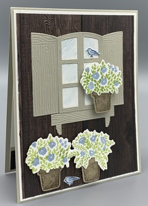 Welcoming window with grace's garden and seaside spray