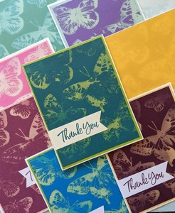 Stampin up butterfly brilliance bleach group 1