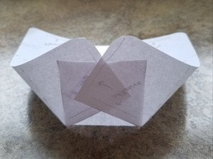May basket template folded