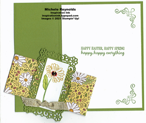 Ornate style belly band daisies open watermark
