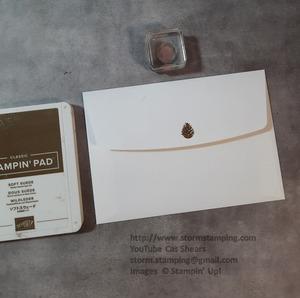 Yule card env back