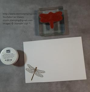 Gold dragonfly card env
