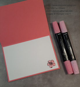Cherry blossom card in