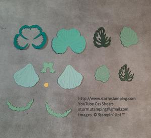 Pansy petals card elements