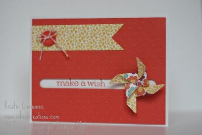 Pinwheel spinner card
