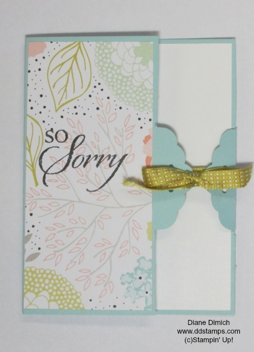 Stampin' up! scalloped tag punch card
