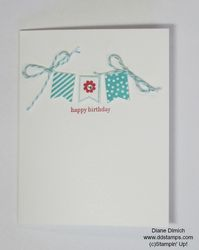 Stampin' up! banner blast card with stampamajig