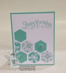Birthday hexagons