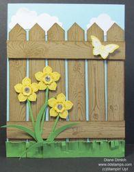 Stampin' up! petite petals and hardwood