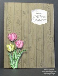 Stampin' up! hardwood and blessed easter