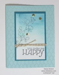 Stampin' up! happy watercolor blue