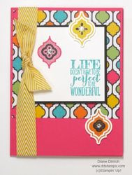 Stampin' up! project life perfect pennants mosaic madness