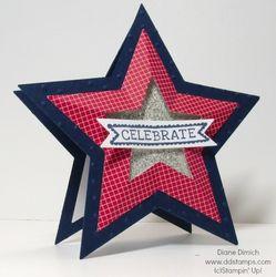 Stampin' up star framelit card