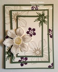 Floral triple stamping card
