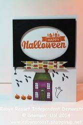 Card 229a halloween street holiday home tall