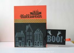 Card 230 halloween street boo open